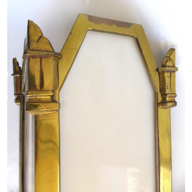 Bronze 1930s American Art Deco Bronze and Glass Theater Sconces - A Pair For Sale - Image 7 of 10