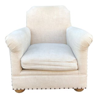 Restoration Hardware French Inspired Rolled Armchair For Sale