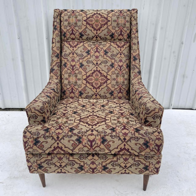 Mid-Century Modern Mid-Century Modern Lounge Chair With Ottoman For Sale - Image 3 of 13