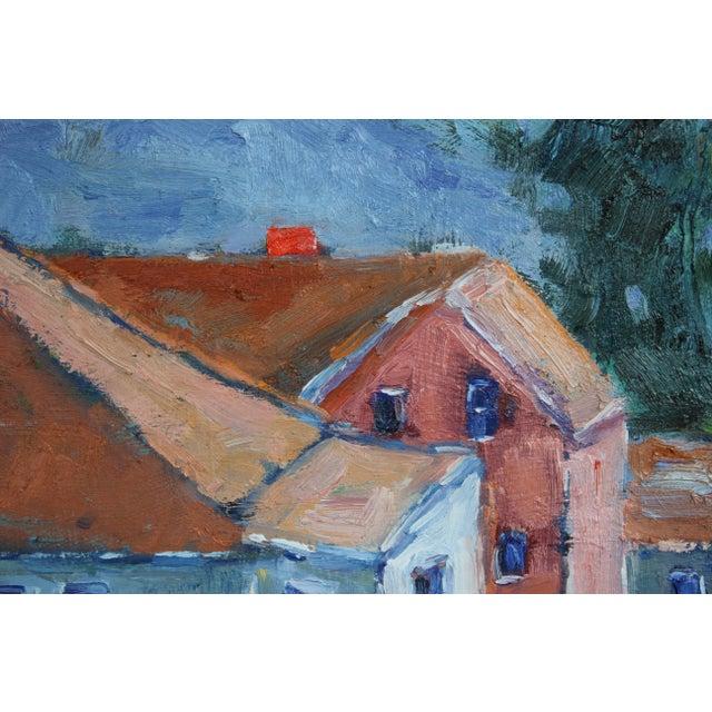 Blue Original Oil Painting Landscape, Fort Bragg California For Sale - Image 8 of 13