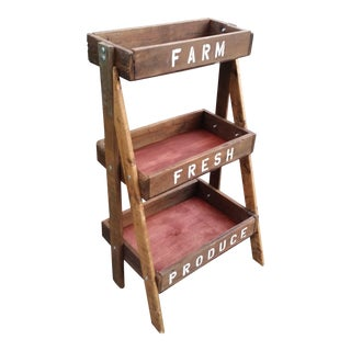 Farm Stand Shelf - 3 Tiers For Sale