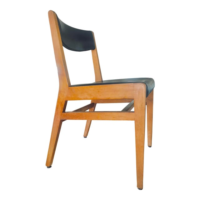 Gun Locke Chair With Original Black Leather Upholstery For Sale