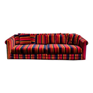 1960s John Stuart for Erwin-Lambeth Striped Sofa For Sale