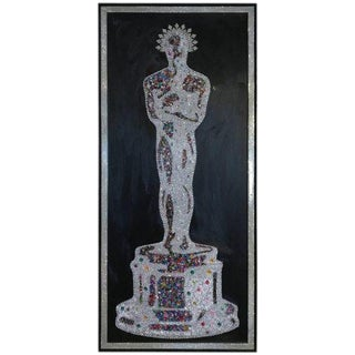 Mauro Oliveira Masterpiece Oscar With Over 10,000 Swarovski and Czech Crystals For Sale