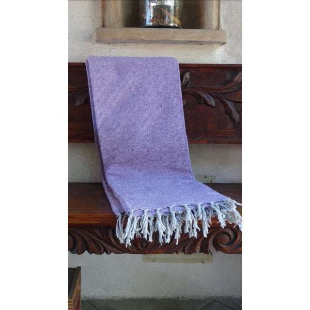 Mexican BohoYoga/ Beach Blanket in Lavender - Image 2 of 3