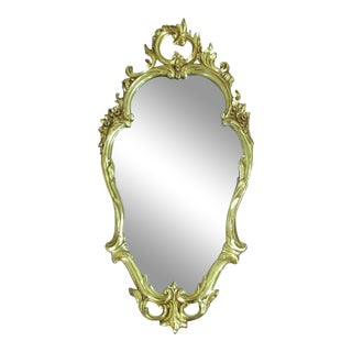 Vintage Syroco Gilded Onate Mirror For Sale