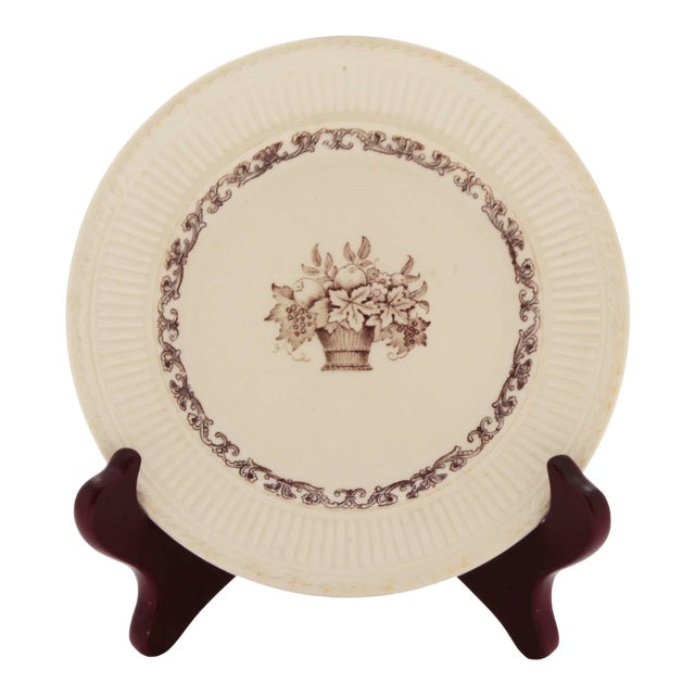 18th Century Swedish Porcelain Transferware Plate by Rorstrand For Sale