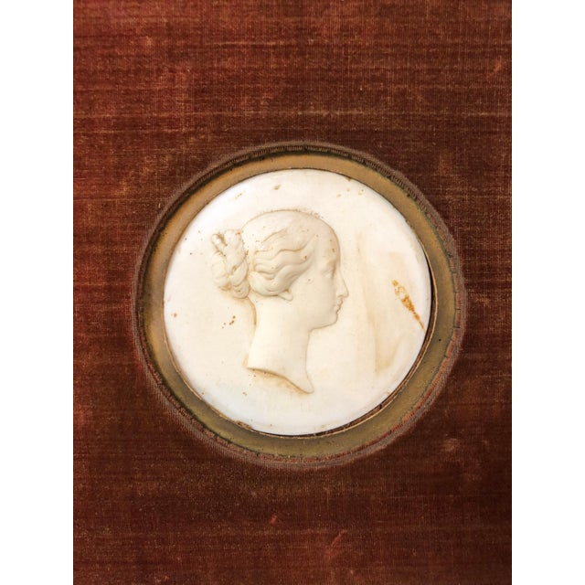 Traditional Pair Sevres Bisque Plaques of French Emperor Napoleon III & His Wife by J. Peyre For Sale - Image 3 of 11