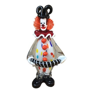 "Murano Art Glass Clown, ""Pagliaccio"" For Sale"