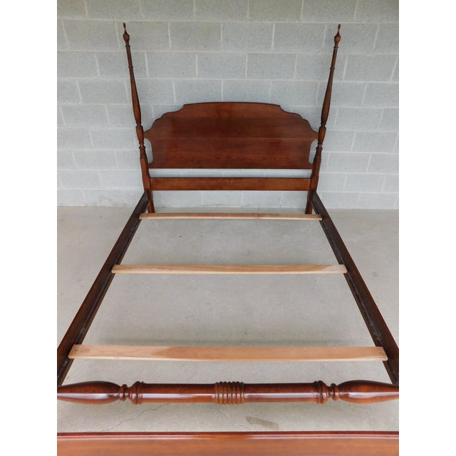 Brown L Hitchcock Cherry Queen Size Poster Bed For Sale - Image 8 of 11