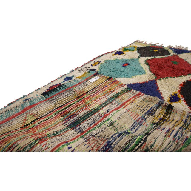 1990s Tribal Style Vintage Moroccan Azilal Rug, Colorful Moroccan Berber Rug, 3'4 X 5'10 For Sale - Image 5 of 6