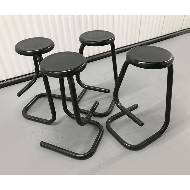 """Boho Chic 1970s """"Paperclip"""" Bar Stools by Haworth for Kinetic For Sale - Image 3 of 10"""