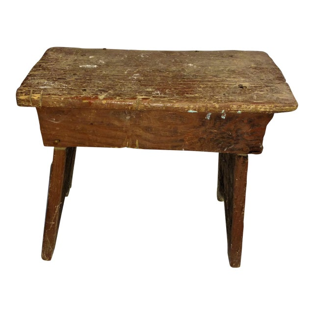 Primitive Cricket Farm Stool For Sale