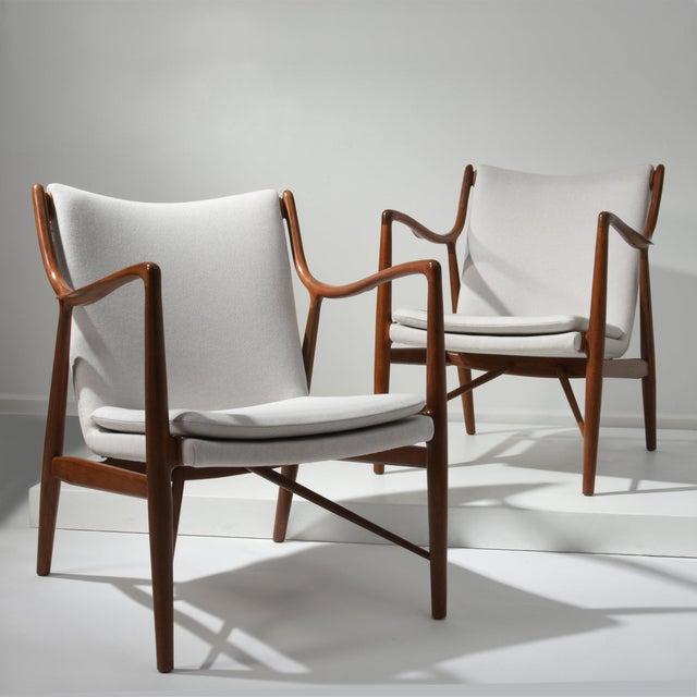 Finn Juhl Finn Juhl Pair of Lounge Chairs, 1950s For Sale - Image 4 of 7