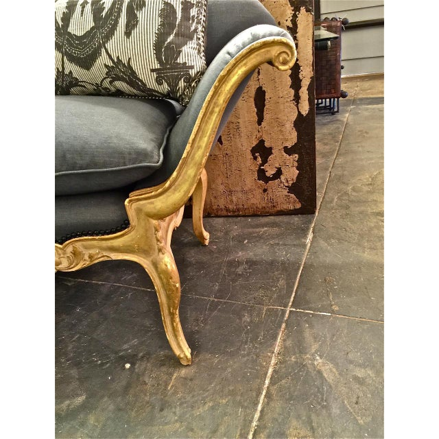Gold Leafed Venetian Style Settee C.1925 - Image 5 of 6