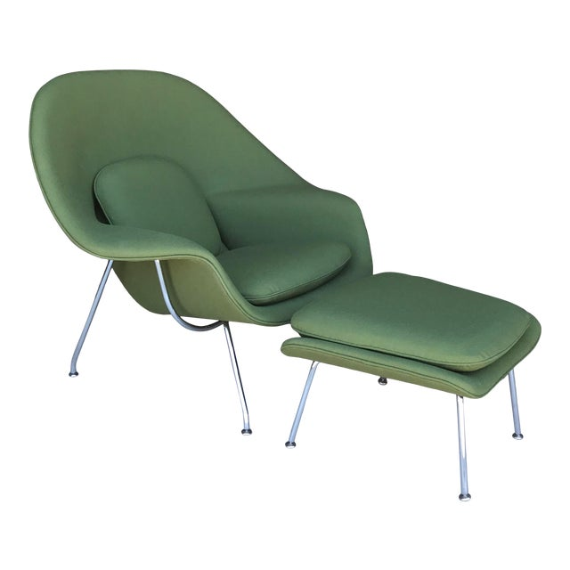 Reupholstered! Knoll Womb Chair Ottoman Eero Saarinen For Sale