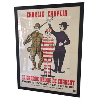 Vintage Charlie Chaplin French Film Poster
