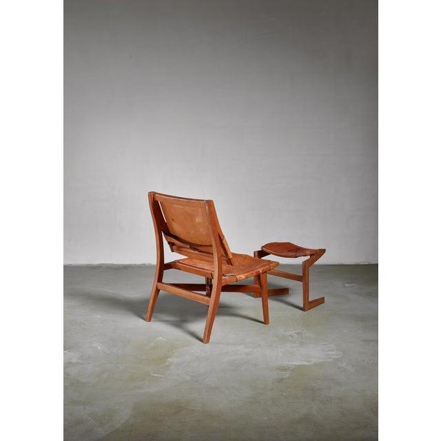 1960s Studio Craft Lounge Chair With Ottoman, Usa For Sale - Image 5 of 6