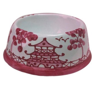 Rose Chinoiserie Dog Bowl