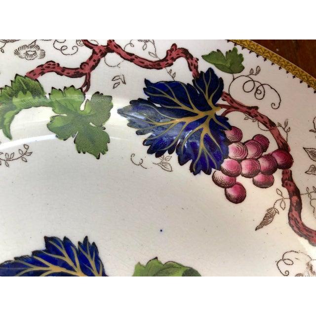 "Wedgwood Antique Wedgwood Floral ""Vine"" Plate For Sale - Image 4 of 9"