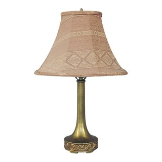 1930s Mitchell Mfg. Co. Brass Plated Table Lamp For Sale