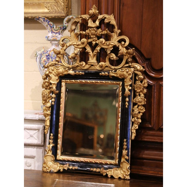 Place this elegant antique wall gilt mirror in a powder room or a hallway. Crafted in Southern France, circa 1780, the...