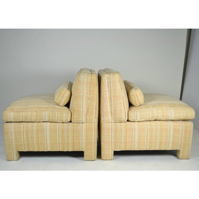Textile Pair of Modern Upholstered Slipper Chairs, circa 1960s For Sale - Image 7 of 10