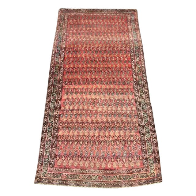 "Antique Hamadan Rug - 3'4"" X 6'6"" - Image 1 of 9"
