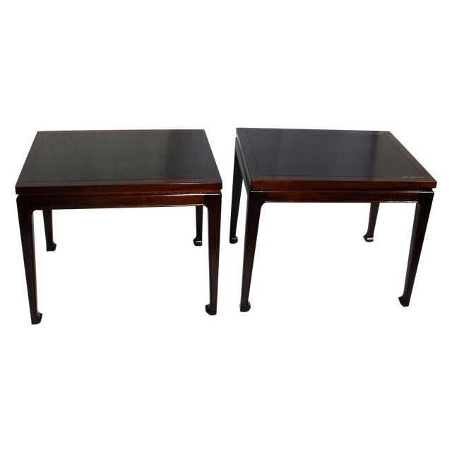 Mid-Century Modern Mahogany End Tables - A Pair - Image 1 of 7