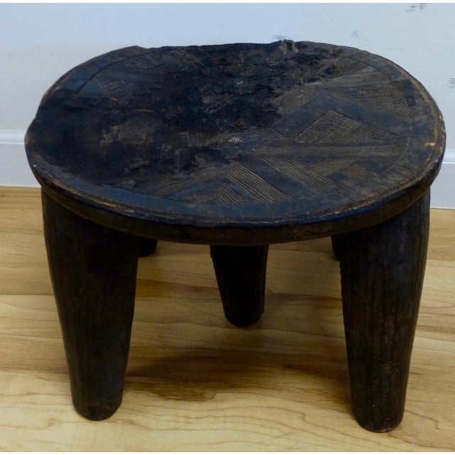 Wooden Hand-Carved African Stool - Image 2 of 4