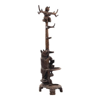 Rustic Black Forest Style '20th Century' Hatrack/Umbrella Stand For Sale