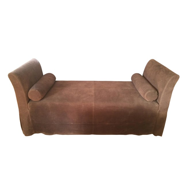 Wood Maxine Snider Inc. Left Bank Settee For Sale - Image 7 of 7