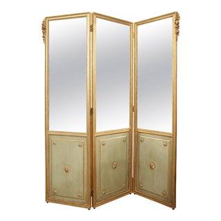 Louis XVI Stye Three-Panel Screen For Sale