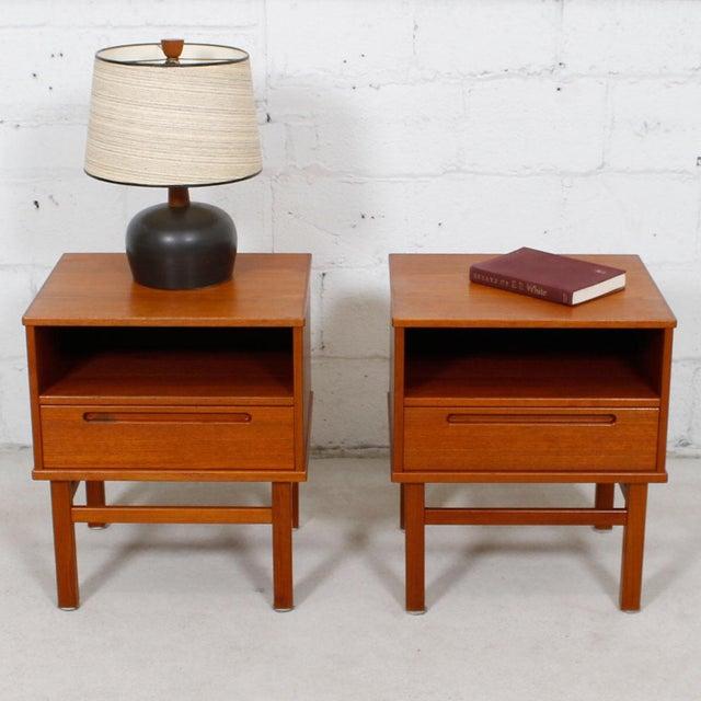 Torring Danish Modern Teak Nightstands/Side Tables - a Pair - Image 8 of 8