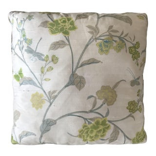 Cottage Bob Collins & Sons Fabric Custom Silk Pillow For Sale