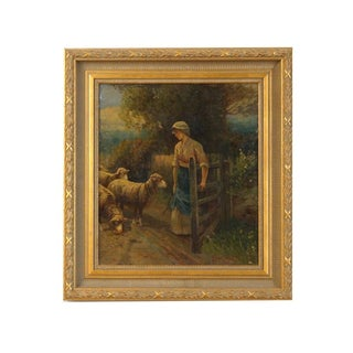 1846-1916 French Oil Painting on Board Signed by Pezant Aymar Alexandre For Sale