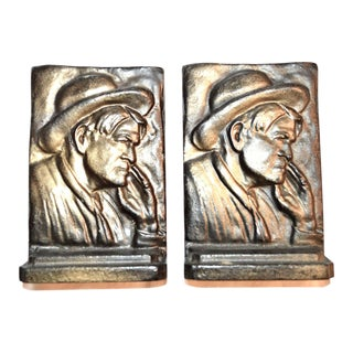 Will Rogers 1920s Bookends - A Pair