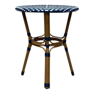 Nautical Wicker & Bentwood Accent Table For Sale