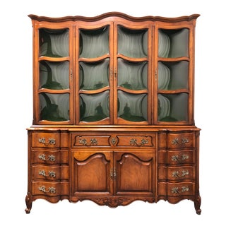 Vintage French Country China Cabinet / Secretary For Sale