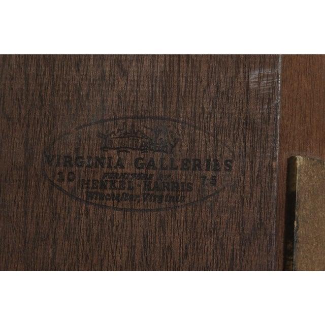 Henkel Harris Model 1114 Mahogany Large Corner Cabinet For Sale - Image 10 of 12