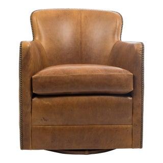 Vintage Mid Century Custom Tub Chair on Swivel For Sale