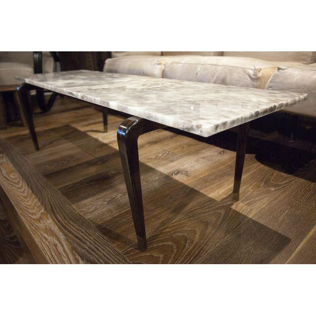 Mid-Century Modern Custom Coffee Table with Onyx Top For Sale - Image 3 of 4