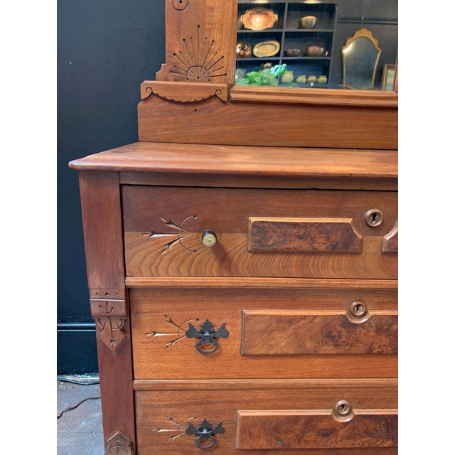 Vintage East Lake Dresser With Mirror For Sale - Image 4 of 7