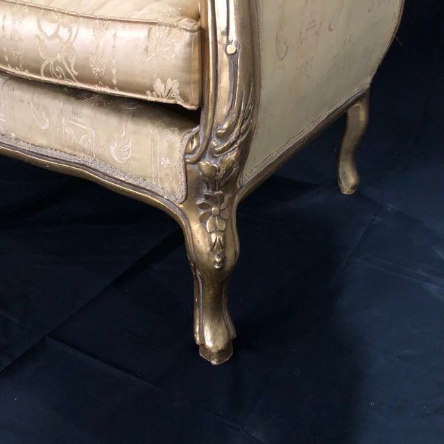 Gold French Louis XV Style Giltwood Sofa For Sale - Image 8 of 13