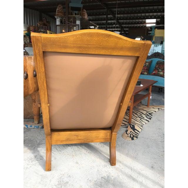 Stupendous 1980S Vintage Leather Plantation Chair And Ottoman Dailytribune Chair Design For Home Dailytribuneorg