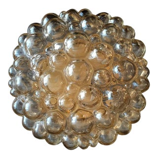 1960s Helena Tynell Limburg Bubble Glass Flush Light For Sale