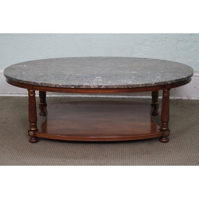 Heritage Heritage French Empire Style Coffee Table For Sale - Image 4 of 10