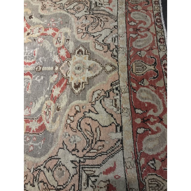 "Bellwether Rugs Antique Turkish Oushak Rug - 4'3""x6'2"" - Image 5 of 10"