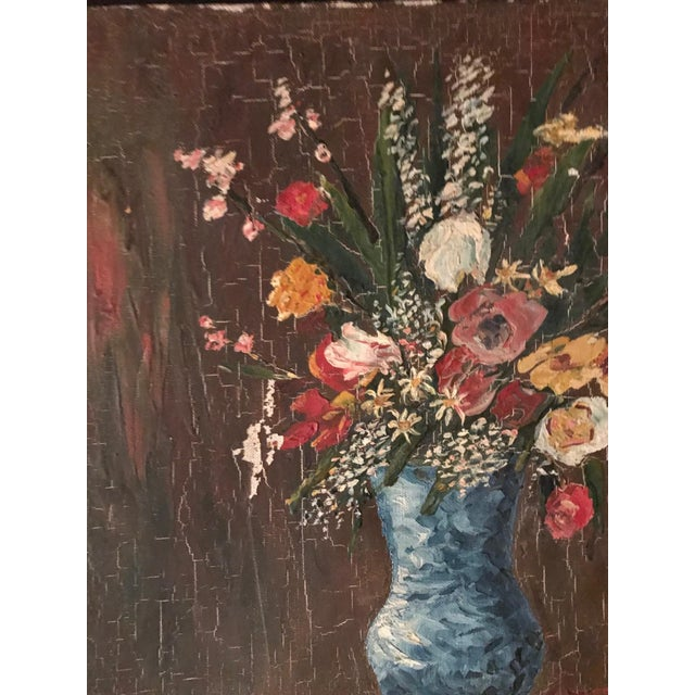 Vintage French Floral Still Life - Image 2 of 4