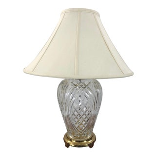 1990s Vintage Waterford Crystal Pineapple Style Table Lamp For Sale